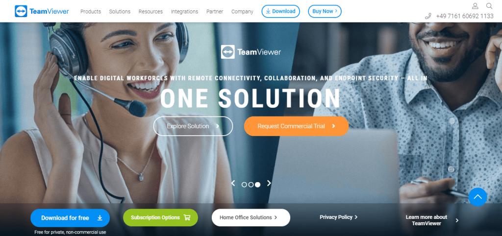 TeamViewer free online meeting tool