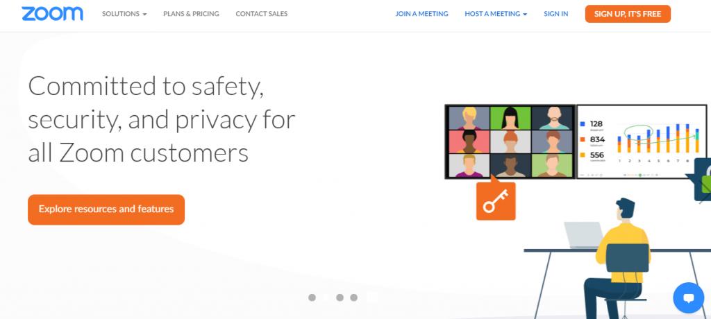 Zoom online meeting tool