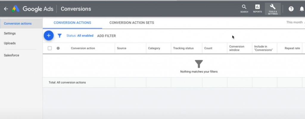 Set Up Google conversion Tracking
