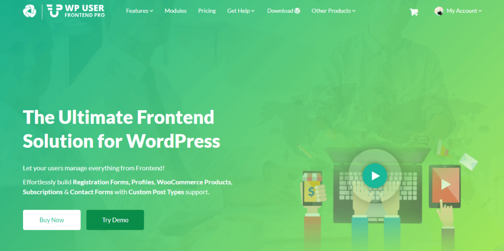WP User Frontend: Best WordPress Plugins for Blogs