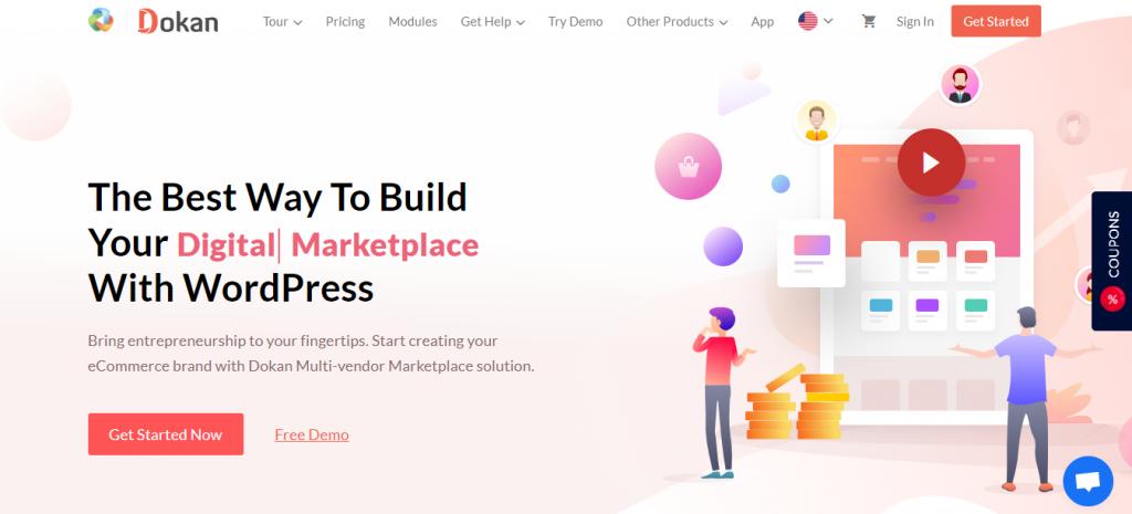 Dokan Multi-vendor eCommerce Website