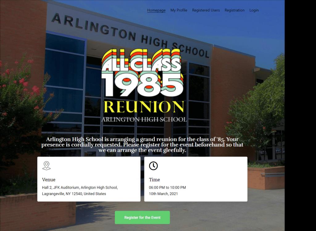 High School Reunion Website