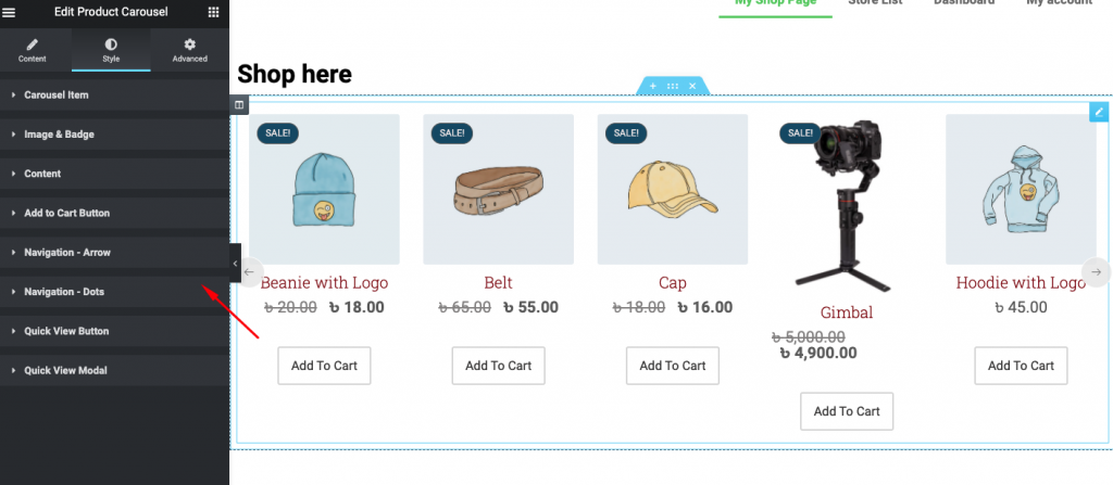 customize WooCommerce shop page