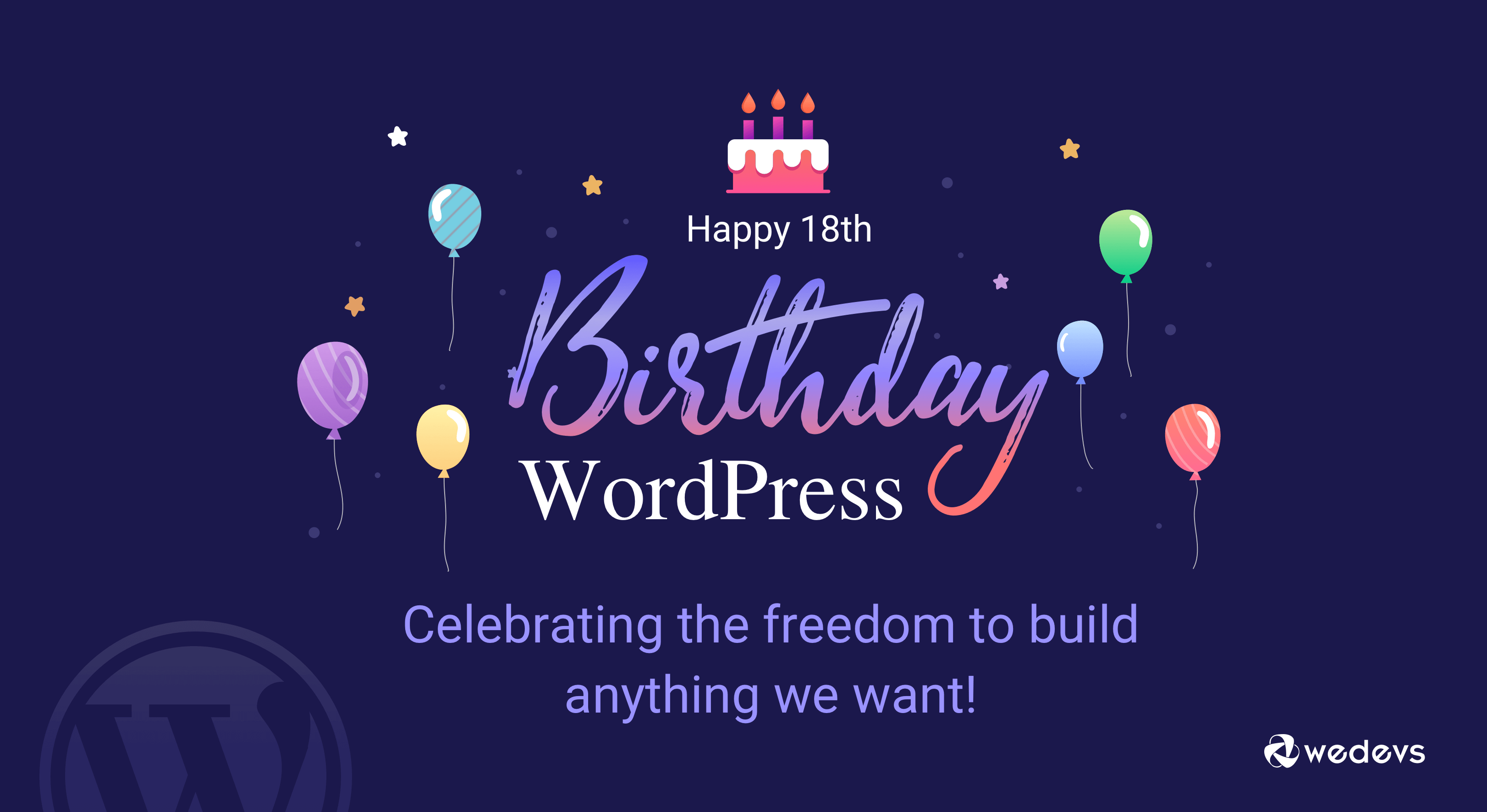 Happy Birthday WordPress! Celebrating 18 Years of Excellence from weDevs