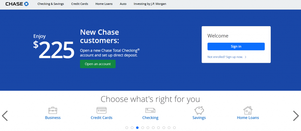 chase bank- Omni Channel Examples