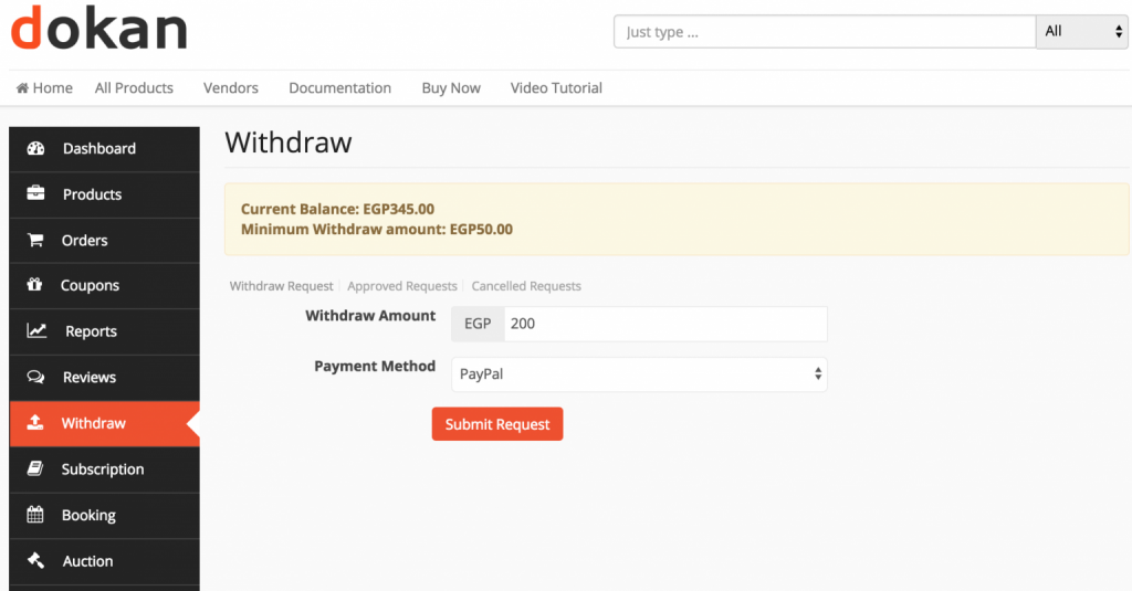 Withdrawal system_how to create a travel accessories website